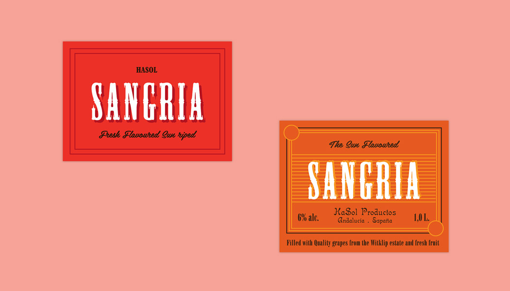 ... an imaginary client and a label for a non-existing Sangria. Salud
